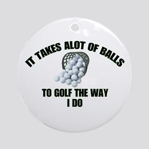 Golf - Alot of Balls Ornament (Round)