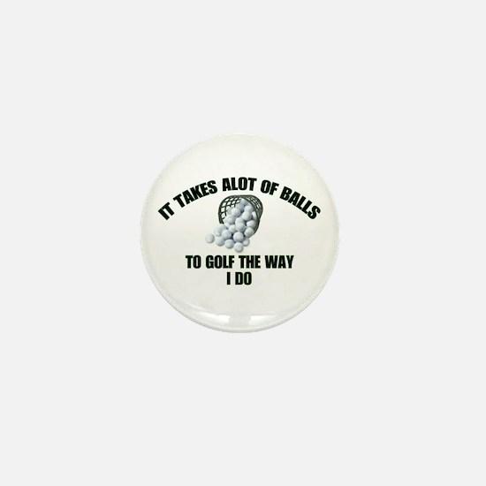 Golf - Alot of Balls Mini Button