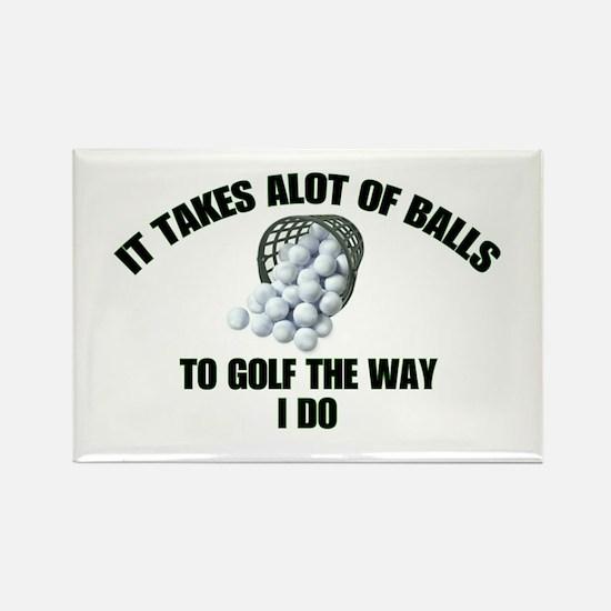 Golf - Alot of Balls Rectangle Magnet