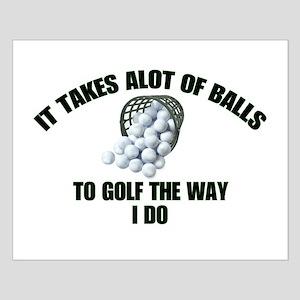 Golf - Alot of Balls Small Poster