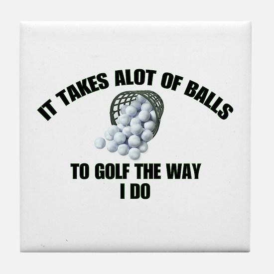 Golf - Alot of Balls Tile Coaster