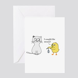 I caught the mouse! Greeting Cards