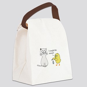 I caught the mouse! Canvas Lunch Bag