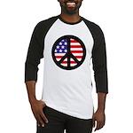 Peace Sign - Flag Baseball Jersey