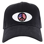 Peace Sign - Flag Black Cap