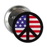 Peace Sign - Flag Button