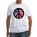Peace Sign - Flag Fitted T-Shirt