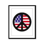 Peace Sign - Flag Framed Panel Print