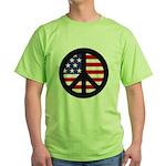 Peace Sign - Flag Green T-Shirt