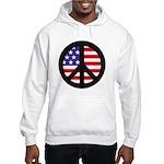 Peace Sign - Flag Hooded Sweatshirt