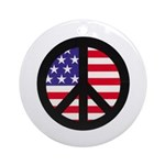 Peace Sign - Flag Ornament (Round)