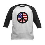 Peace Sign - Flag Kids Baseball Jersey