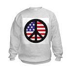 Peace Sign - Flag Kids Sweatshirt