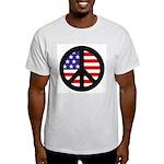 Peace Sign - Flag Light T-Shirt
