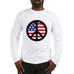 Peace Sign - Flag Long Sleeve T-Shirt