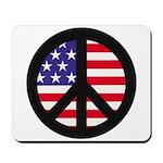 Peace Sign - Flag Mousepad