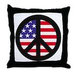 Peace Sign - Flag Throw Pillow