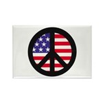Peace Sign - Flag Rectangle Magnet (10 pack)