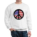 Peace Sign - Flag Sweatshirt