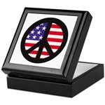 Peace Sign - Flag Keepsake Box