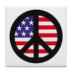 Peace Sign - Flag Tile Coaster