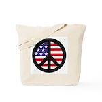 Peace Sign - Flag Tote Bag