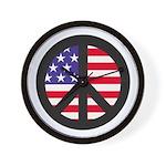 Peace Sign - Flag Wall Clock