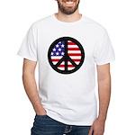 Peace Sign - Flag White T-Shirt