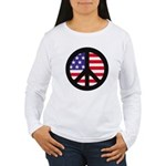 Peace Sign - Flag Women's Long Sleeve T-Shirt
