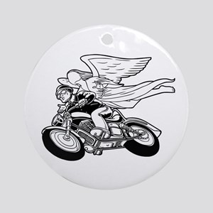 Angel Flight II-a Ornament (Round)
