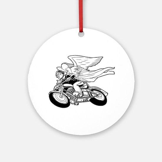 Angel Flight II-a Ornament (Round)