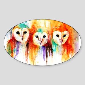 Row of Owl Sticker