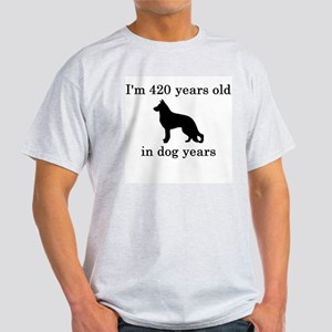 60 birthday dog years german shepherd black T-Shir