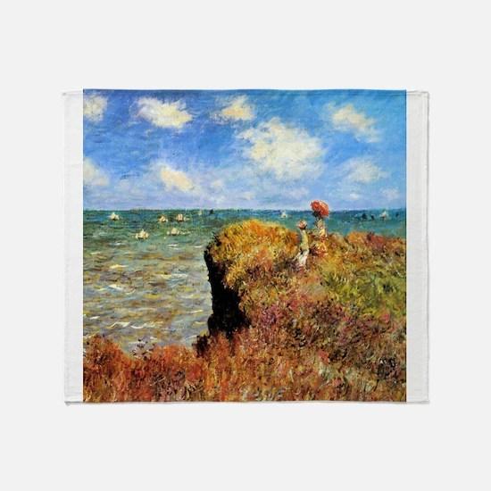 Monet Promenade sur la Falaise Throw Blanket