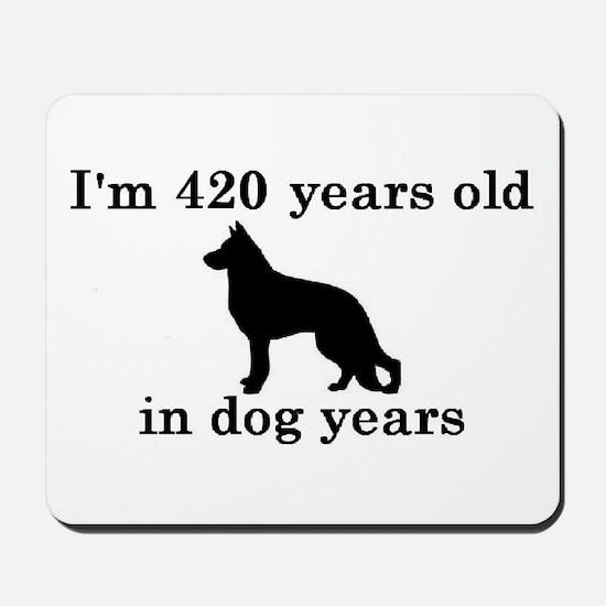 60 birthday dog years german shepherd black 2 Mous