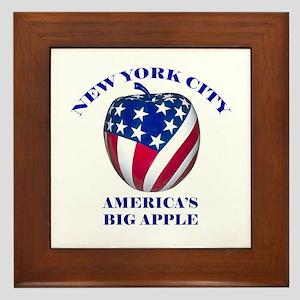 America's Big Apple Framed Tile