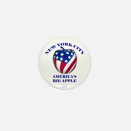 America's Big Apple Mini Button