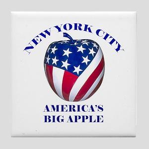 America's Big Apple Tile Coaster