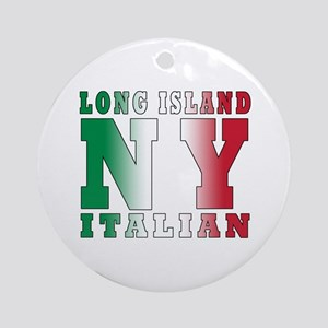 Long Island Italian Ornament (Round)