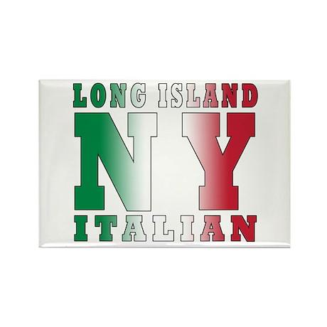 Long Island Italian Rectangle Magnet (100 pack)