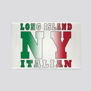Long Island Italian Rectangle Magnet