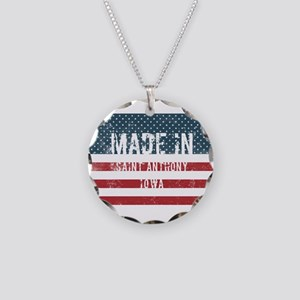Made in Saint Anthony, Iowa Necklace Circle Charm