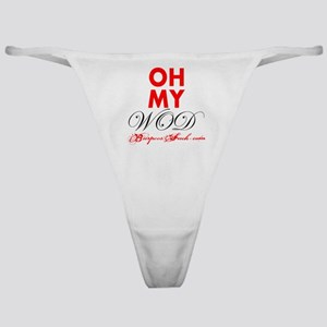 OH MY WOD - WHITE Classic Thong