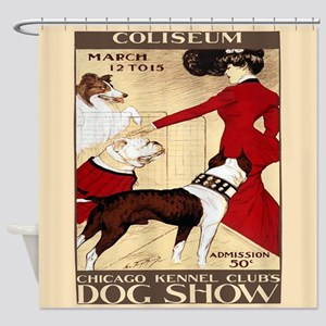 Vintage Dog Show Shower Curtain
