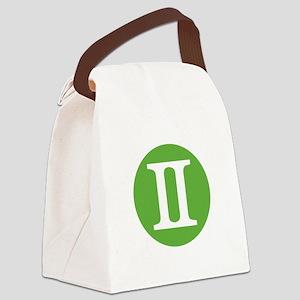 Gemini Zodiac Canvas Lunch Bag