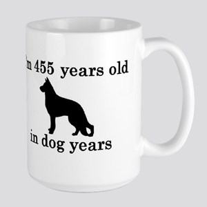 65 birthday dog years german shepherd black 2 Mugs