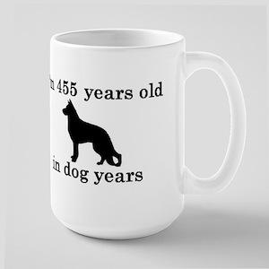 65 birthday dog years german shepherd black 2 Mugs