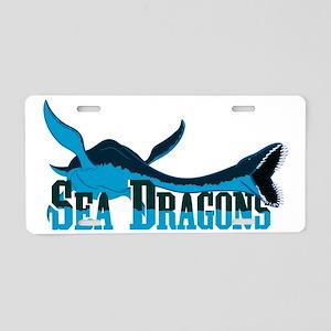 Sea Dragons Aluminum License Plate