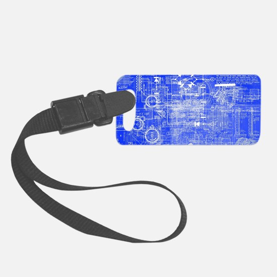 Blueprints Architecture Luggage Tag