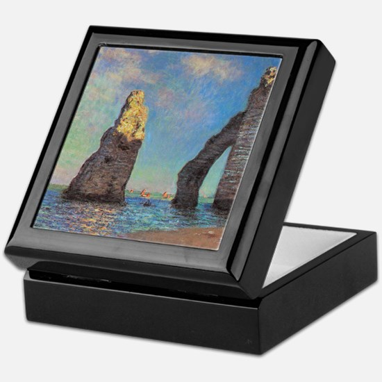 Etretat Cliffs by Monet Keepsake Box